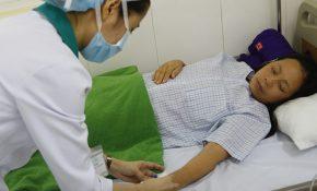 Một bệnh nhân trong đoàn khách đang được điều trị tại bệnh viện.
