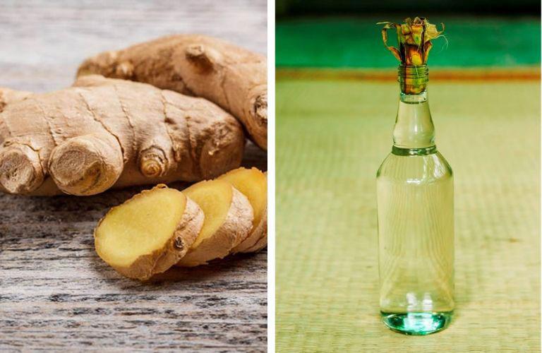 Sử dụng gừng ngâm rượu bôi ngoài da hỗ trợ điều điều trị triệu chứng của mề đay