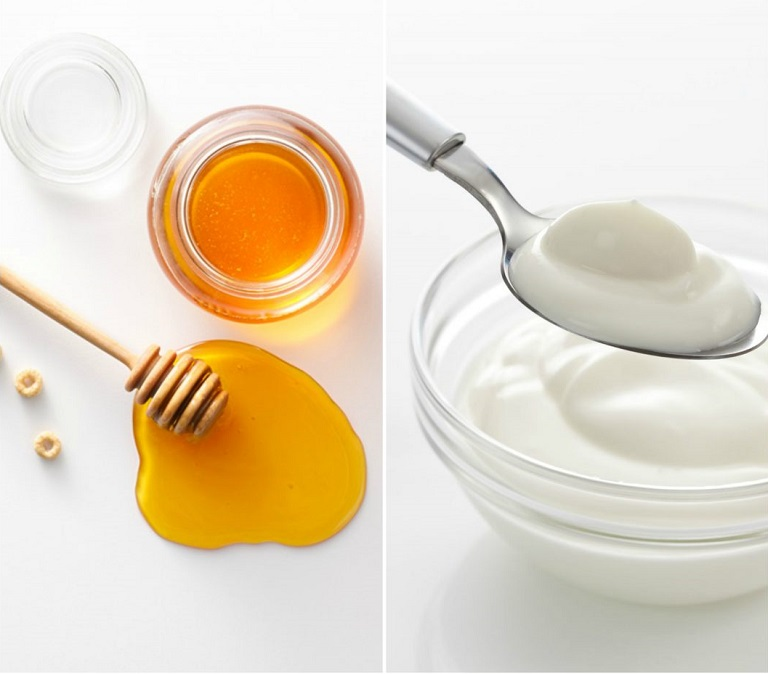Kết hợp sữa chua không đường cùng mật ong trị viêm da cơ địa