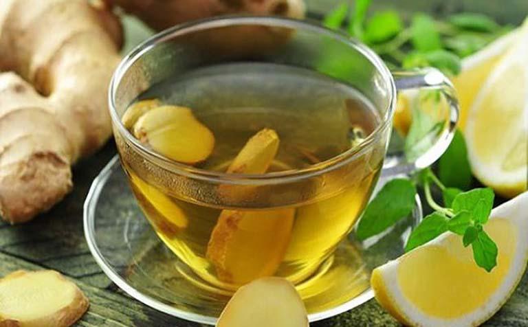 Uống trà gừng cải thiện tình trạng mẩn ngứa ngoài da