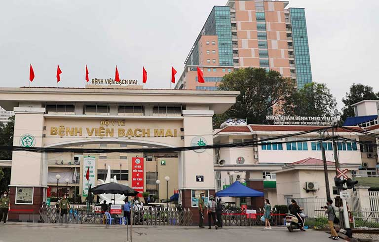 Bệnh viện Bạch Mai là một trong những bệnh viện to nhất của cả nước