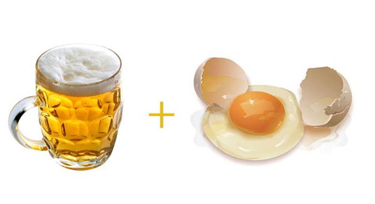 Công thức bia và trứng gà - Bí quyết không nên bỏ qua nếu muốn xử lý nấm da đầu tận gốc