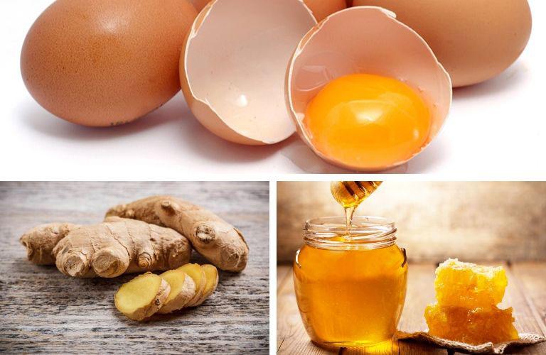 Kết hợp trứng gà mật ong và gừng
