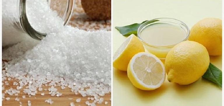 Dùng chanh cùng với muối giúp kháng nấm, làm sạch da đầu