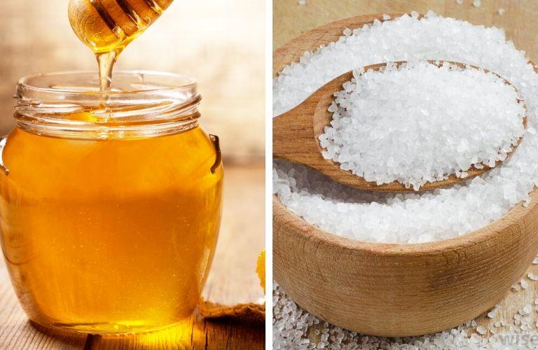 Mật ong kết hợp muối tinh chống viêm giảm sưng tấy trên da