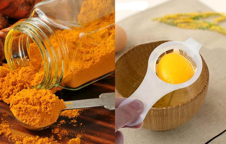 Trứng gà và nghệ tươi chống xuất tinh sớm