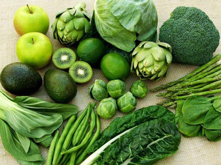 Người bệnh nên bổ sung nhiều rau xanh trong thực đơn
