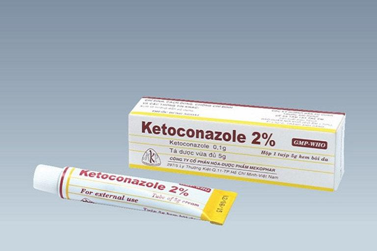 Tuyp kem bôi Ketoconazole trị nấm da đầu