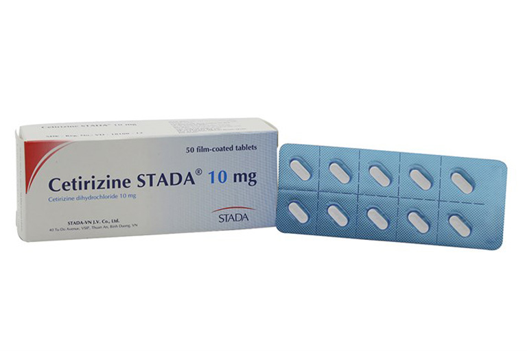 Thuốc chống dị ứng Cetirizin Stada
