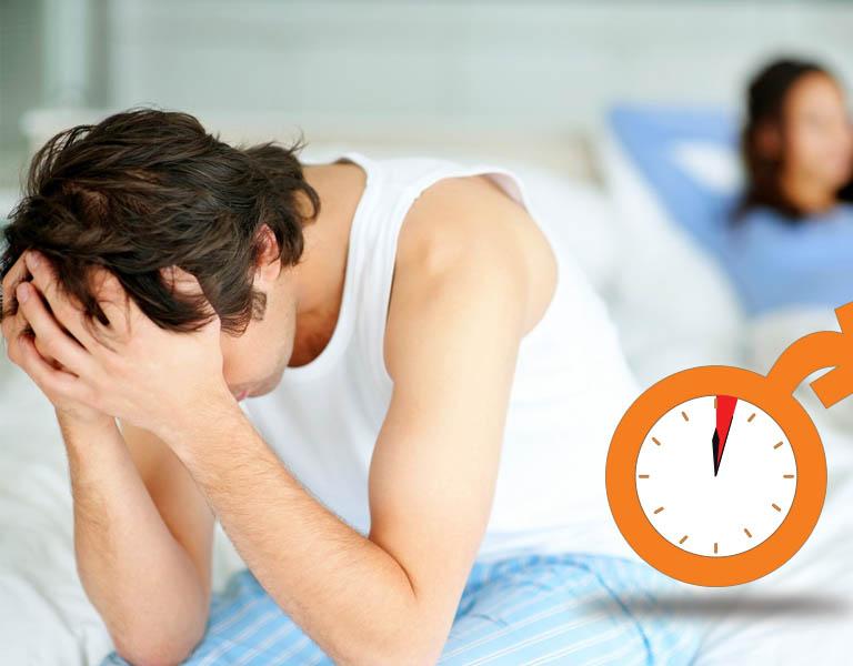 Xuất tinh sớm là tình trạng đạt cực khoái nhanh chóng chỉ sau 1-2 phút bắt đầu quan hệ