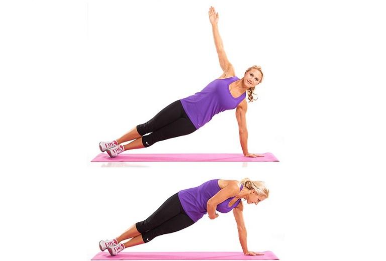 Side plank là bài tập phù hợp cho người thoát vị đĩa đệm