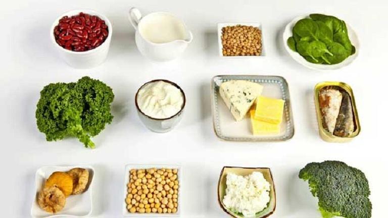 Người bệnh thoái hóa cột sống nên tăng cường thực phẩm giàu canxi