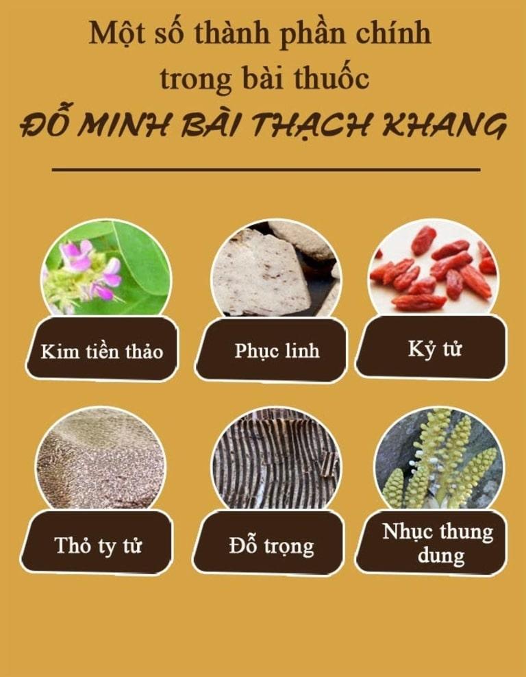 Thành phần bài thuốc Đỗ Minh Bài Thạch Khang đặc trị sỏi tiết niệu