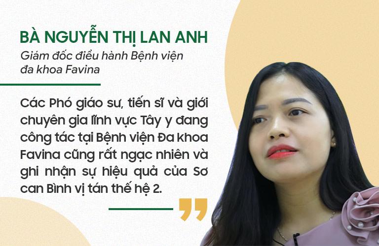 Bà Lan Anh đưa ra nhận định
